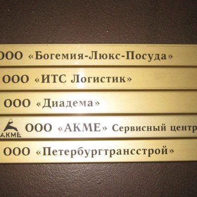 Информационные таблички в бизнес центре